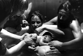 Waterbirth at Birth and Beyond, Nimbin, late 1980'sImage by Brian Alexander